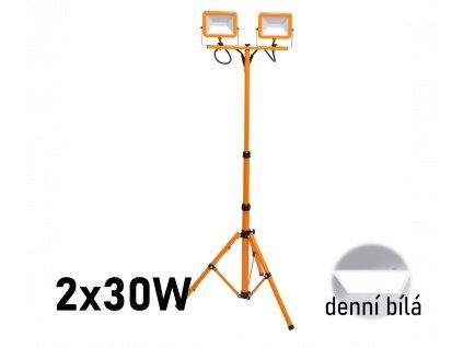 led reflektor se stativem trojnozka 2x30w RMLED 2x30W STJ ORA