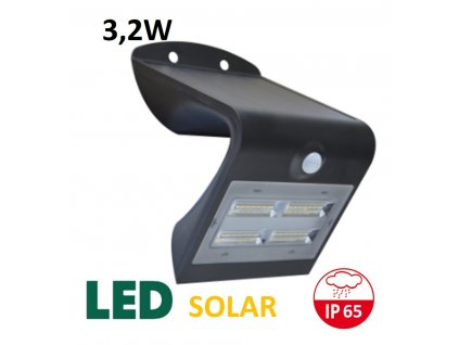 venkovni solarni led reflektor 3,2W cerny maxlumen.cz