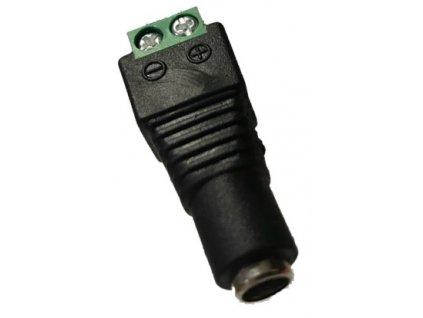 DC konektor samice se svorkovnici sroubovaci