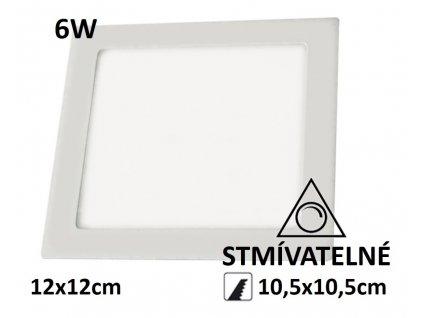 led stmivatelny led panel ctverec 6w
