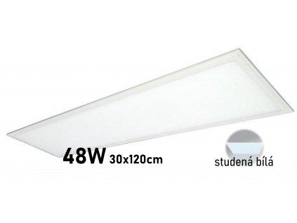 levny kvalitni led panel 120x30 cm studena bila