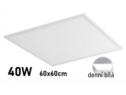 levny led panel 60x60cm denni bila