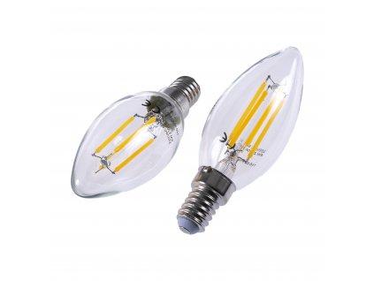 LED žárovka E14 4W FILAMENT TEPLÁ BÍLÁ