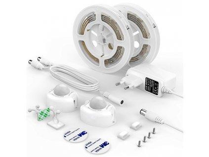 LED pásek pod 2 lůžka vč.senz. 2x120cm,3W/ TEPLÁ BÍLÁ 200lm DX-CDA-2