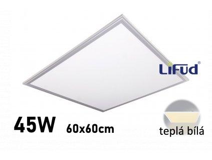 led panel stribrny 60x60 cm teplá bílá