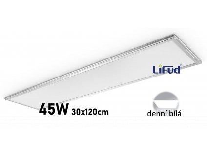 led panel 30X120 45W stríbrný