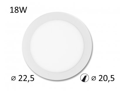 downlights LED panel kruhový 18W vše pro osvetleni vpoled.cz