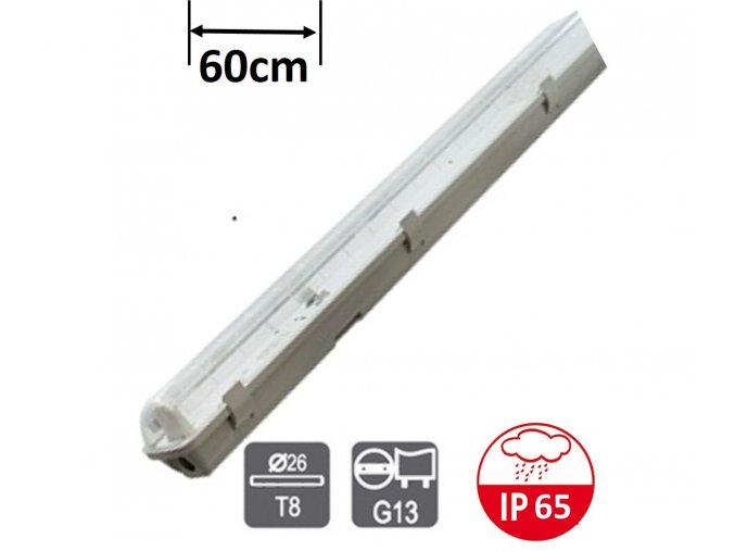 Greenlux Trust EVG PS 1x18W zářivkové svitidlo 60cm ip65 maxlumen.cz