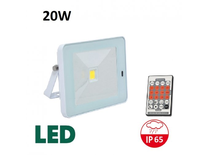 LED reflektor s pohybovym cidlem bily RLHJ20W BI HF 4100 maxlumen.cz