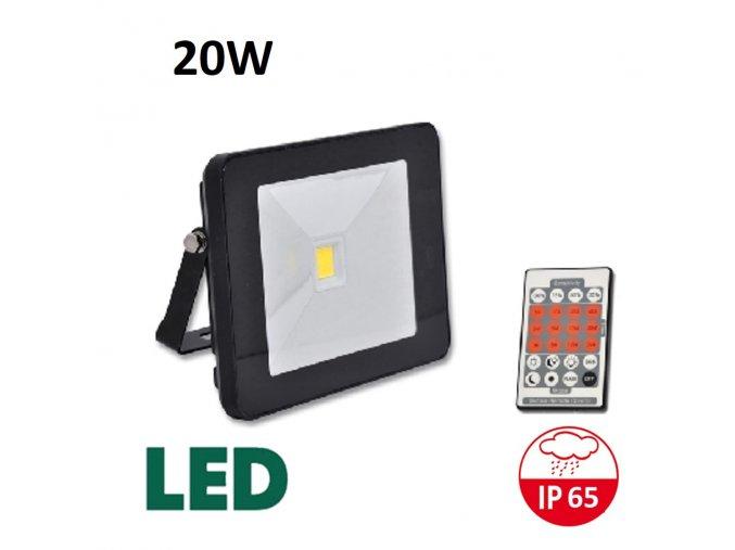 LED reflektor s pohybovym cidlem cerny RLHJ20W CR HF 4100 maxlumen.cz