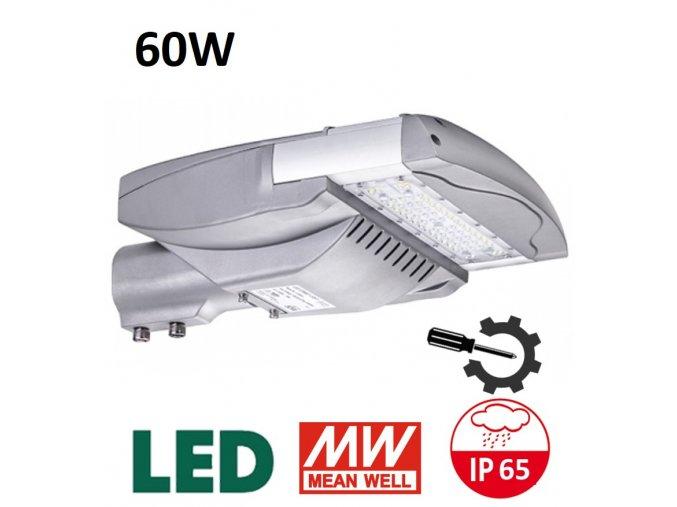 verejne led osvetleni 60W vymenitelny svetelny zdroj