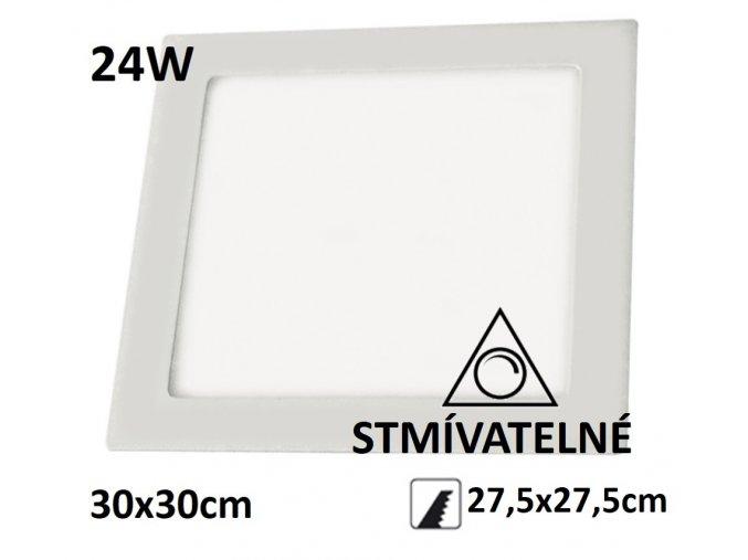 led panel stmivatelny 24w ctverec
