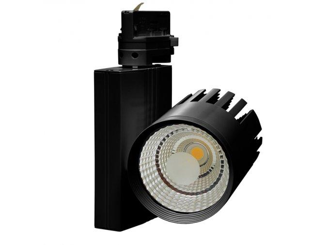 Svítidlo na lištový syst. (3f),COB,30W,4100K,černá
