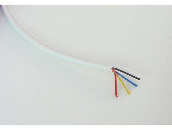 Kabel RGB kulatý 4x0,19