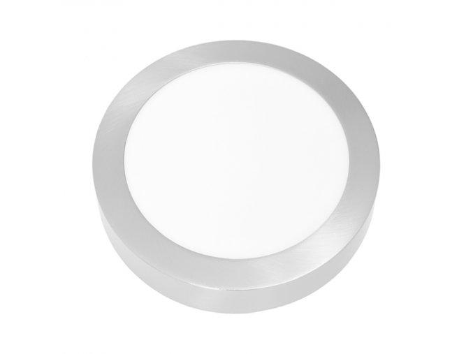 LED PANEL ECOLITE CHROM LADA2 18W Denní Bílá KRUH PŘISAZENÝ LED-CSL-18W/41/CHR