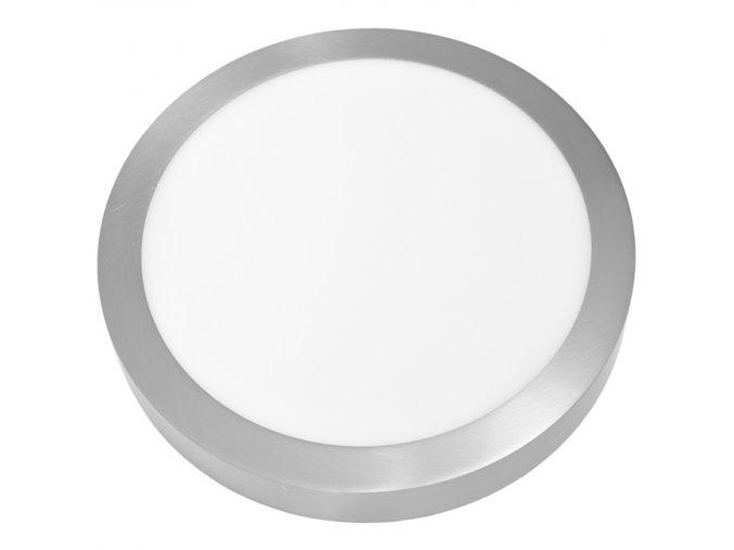 LED PANEL ECOLITE CHROM LADA2 25W Denní Bílá KRUH PŘISAZENÝ LED-CSL-25W/41/CHR