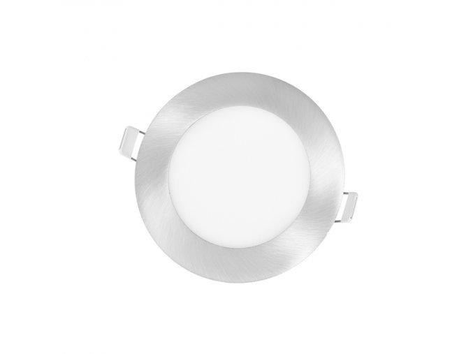 LED PANEL ECOLITE CHROM LADA 6W DENNÍ BÍLÁ KRUH VESTAVNÝ LED-WSL-6W/41/CHR