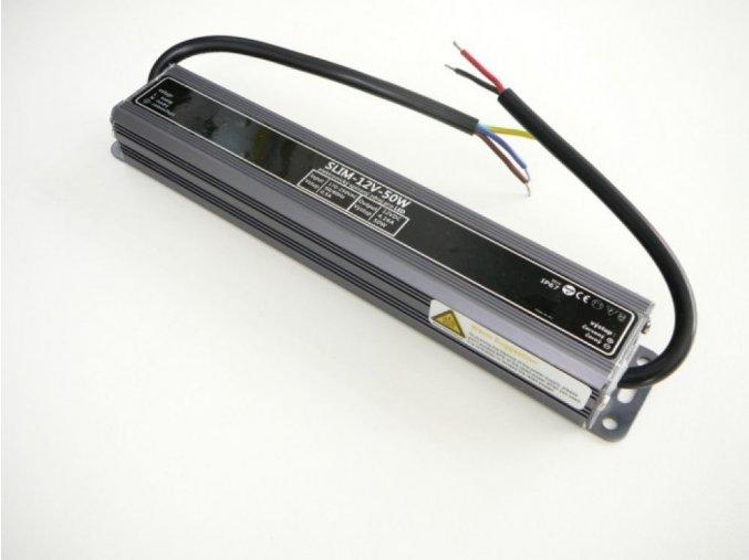 LED zdroj, trafo,50W, 12V IP67 venovní voděodolný MaxLumen.cz