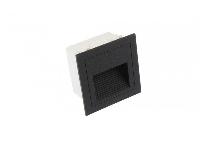 LED vestavné svítidlo LOPEN-B-IP65 černé TEPLÁ BÍLÁ