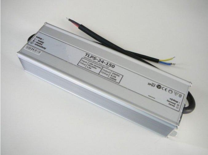 LED zdroj, trafo,150W, 24V IP67 venovní voděodolný MaxLumen.cz