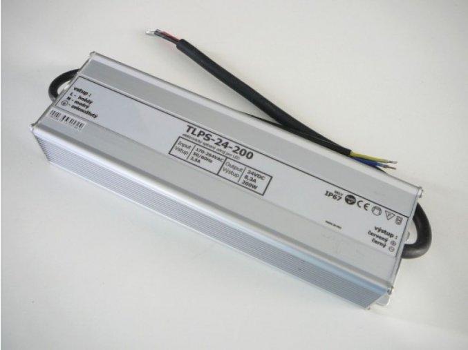 LED zdroj, trafo,200W, 24V IP67 venovní voděodolný MaxLumen.cz