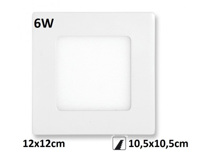 LED PANEL 6W rafa maxlumen.cz praha bily downlight