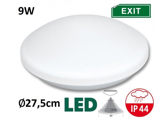 LED stropni nastenne svitidlo victor LED nouzový modul pohybove cidlo teplá denní bílá maxLumen.cz