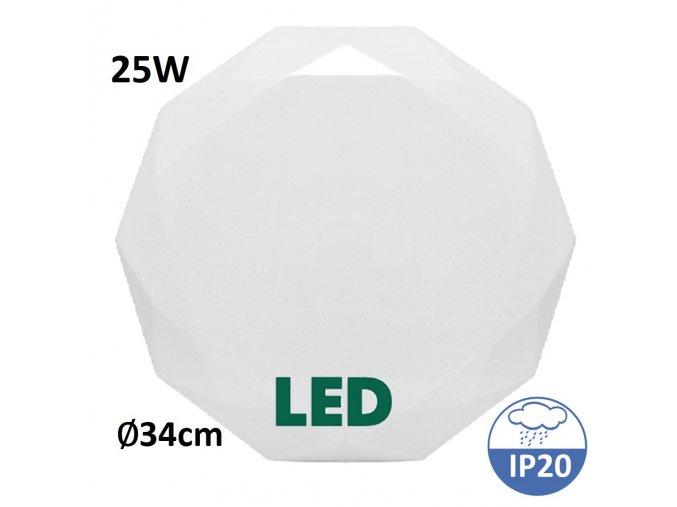 stropní světlo regulace svetla Ecolite diamant wzsd 25W maxlumen.cz