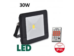 LED reflektor s pohybovym cidlem cerny RLHJ30W CR HF 4100 maxlumen.cz