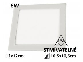 led stmivatelny led panel ctverec 6w