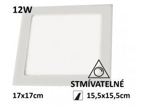 led panel ctverec stmivatelny 12w