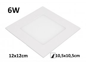 led panel podhledovy 6w lenvy t led