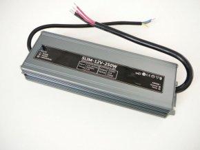 LED zdroj, trafo,250W, 12V IP67 venovní voděodolný MaxLumen.cz
