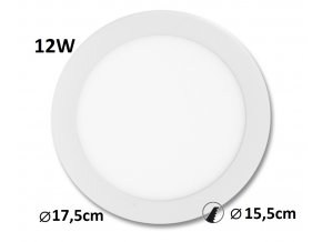 led panel podhledovy bíly 12W downlight