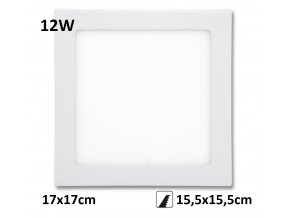 LED PANEL 12W rafa maxlumen.cz praha bily downlight