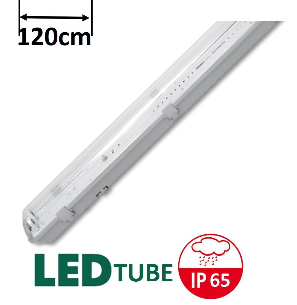 LED svítidlo ECOLITE LIBRA 2 TL3902A-2x36/B pro 2x LED T8 120cm