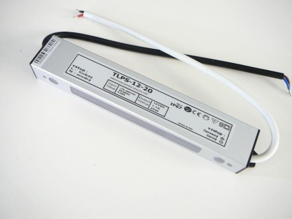 LED zdroj 12W 12V voděodolný IP67 | MaxLumen.cz