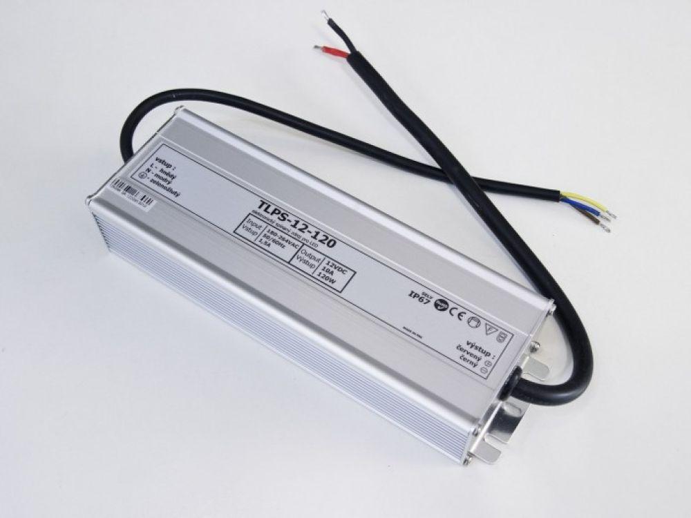 LED zdroj 120W 12V voděodolný IP67 | MaxLumen.cz
