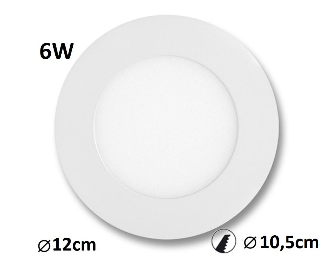 LED panel LADA 6W vestavný | MaxLumen.cz Barva světla: denní bílá