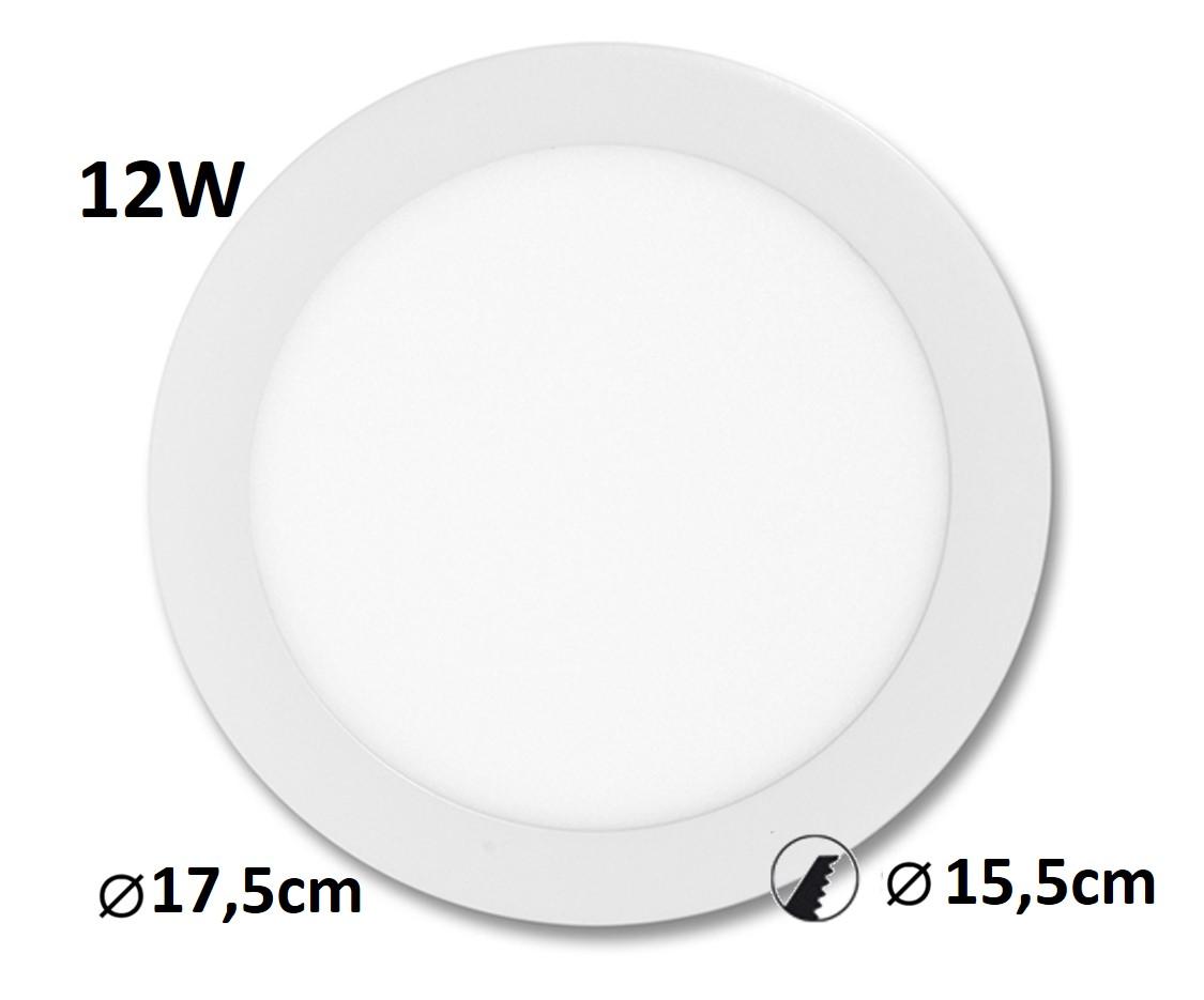 LED panel LADA 12W vestavný | MaxLumen.cz Barva světla: denní bílá