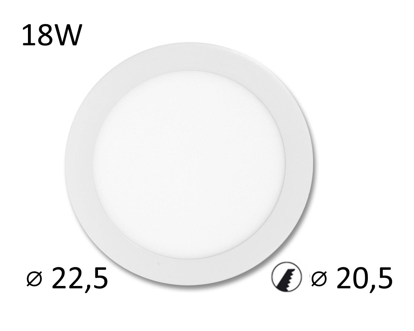 LED panel LADA 18W vestavný | MaxLumen.cz Barva světla: denní bílá