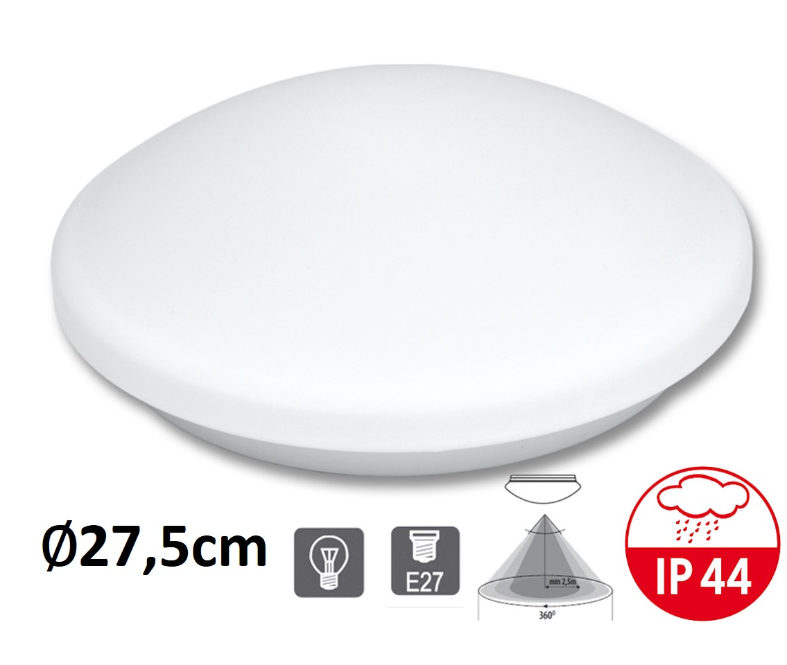 Stropní a nástěnné svítidlo VICTOR W131-BI čidlo E27 | MaxLumen.cz