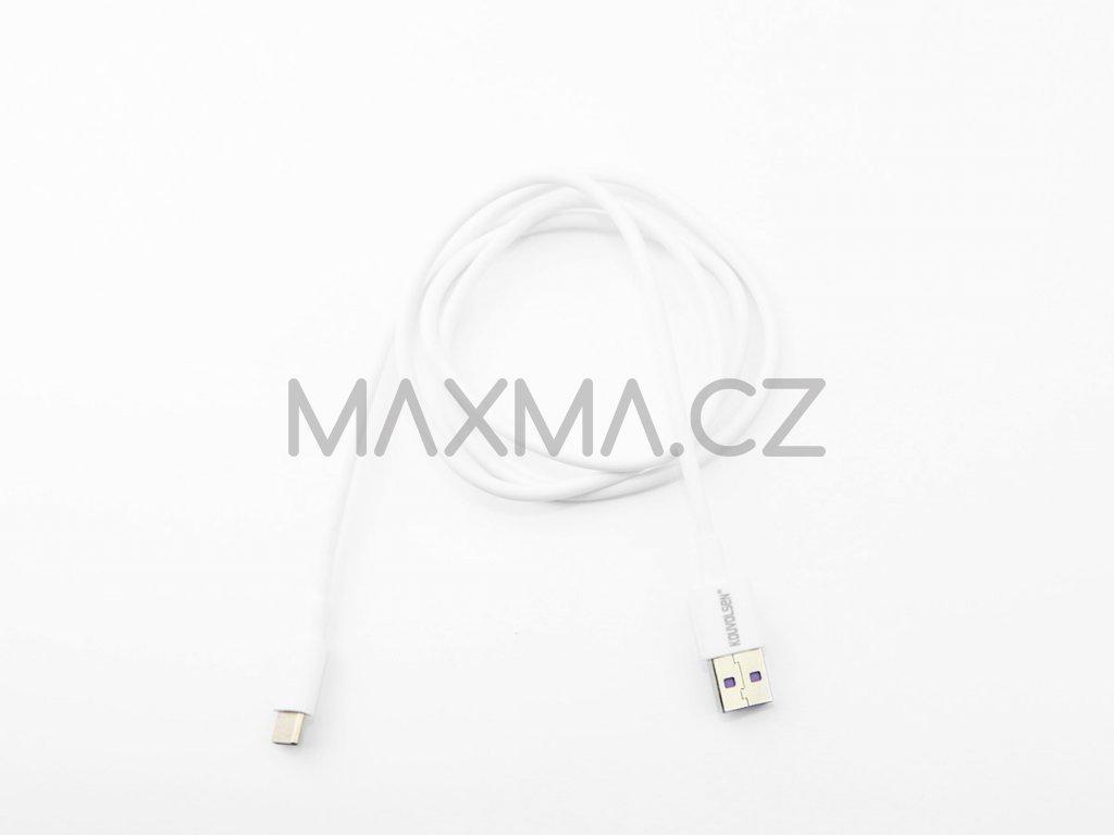Kouvolsen kabel USB / USB-C (X36C) 1m - bílý