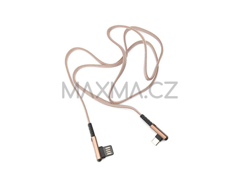 Kouvolsen kabel USB / USB-C (X29) 1m - hnědý