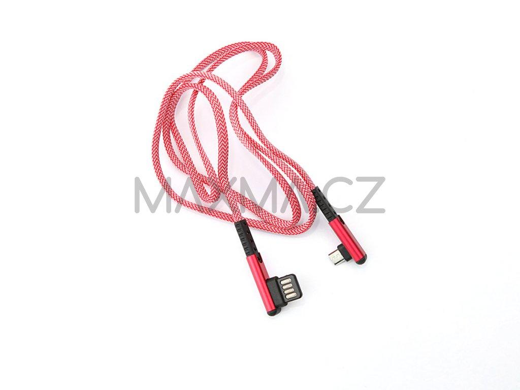 Kouvolsen kabel USB / micro-USB (X29) 1m - červený