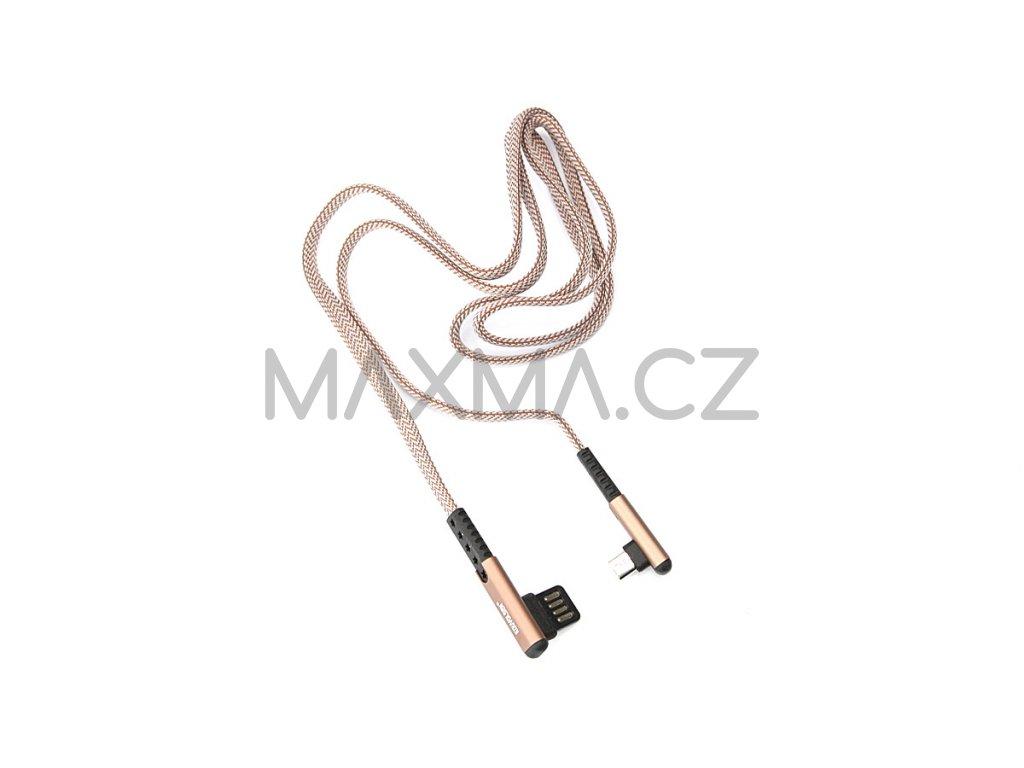 Kouvolsen kabel USB / micro-USB (X29) 1m - hnědý
