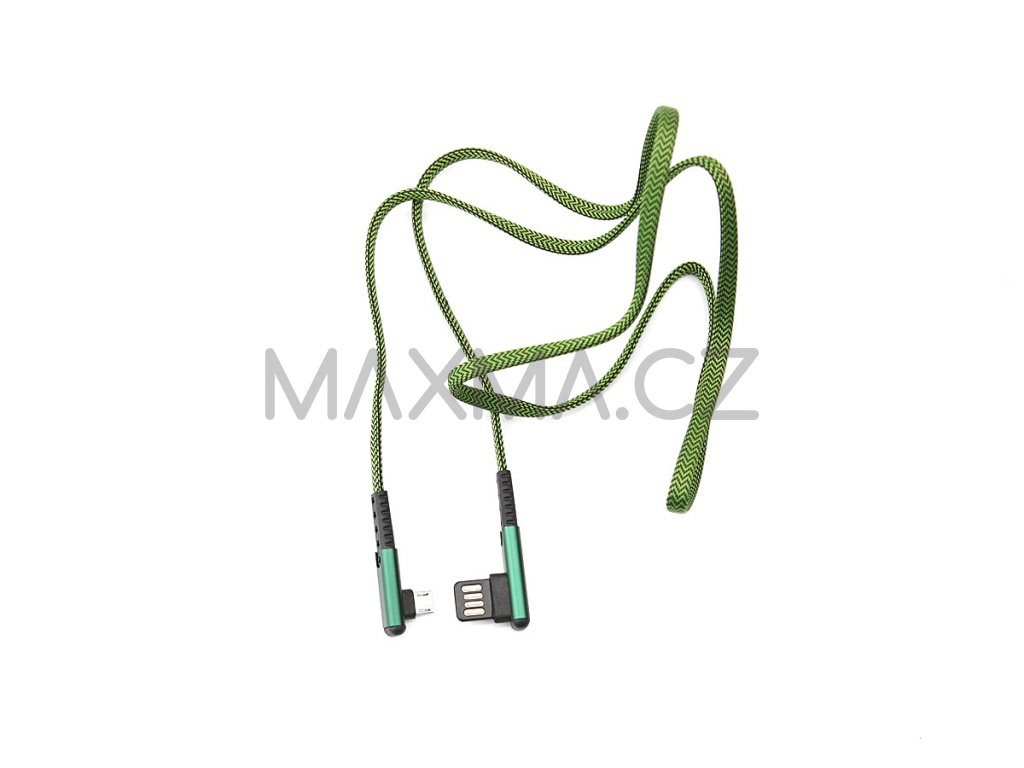 Kouvolsen kabel USB / micro-USB (X29) 1m - zelený