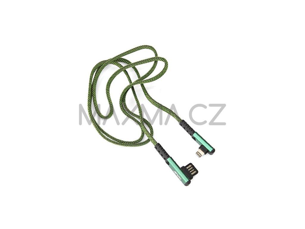 Kouvolsen kabel USB / Lightning (X29) 1m - zelený
