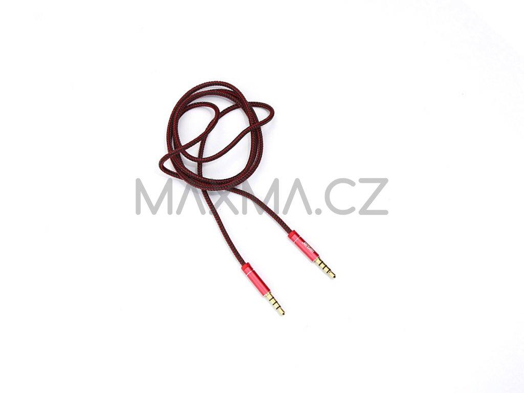Kouvolsen audio kabel 2x 3,5 mm jack (M2-0706) 1m - červený
