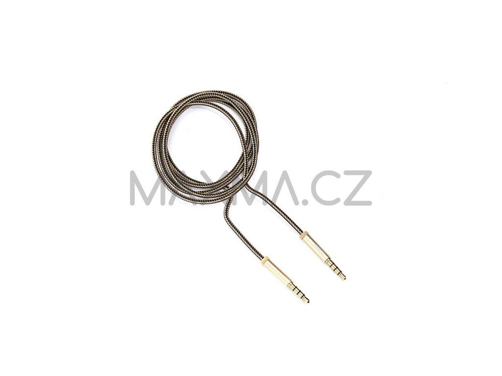 Kouvolsen audio kabel 2x 3,5 mm jack (M2-0706) 1m - zlatý